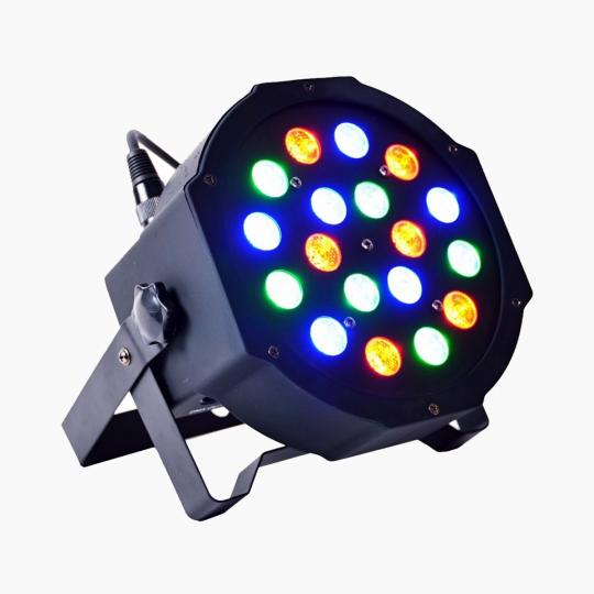 Apšvietimas RGB-LED-PAR-18x3w